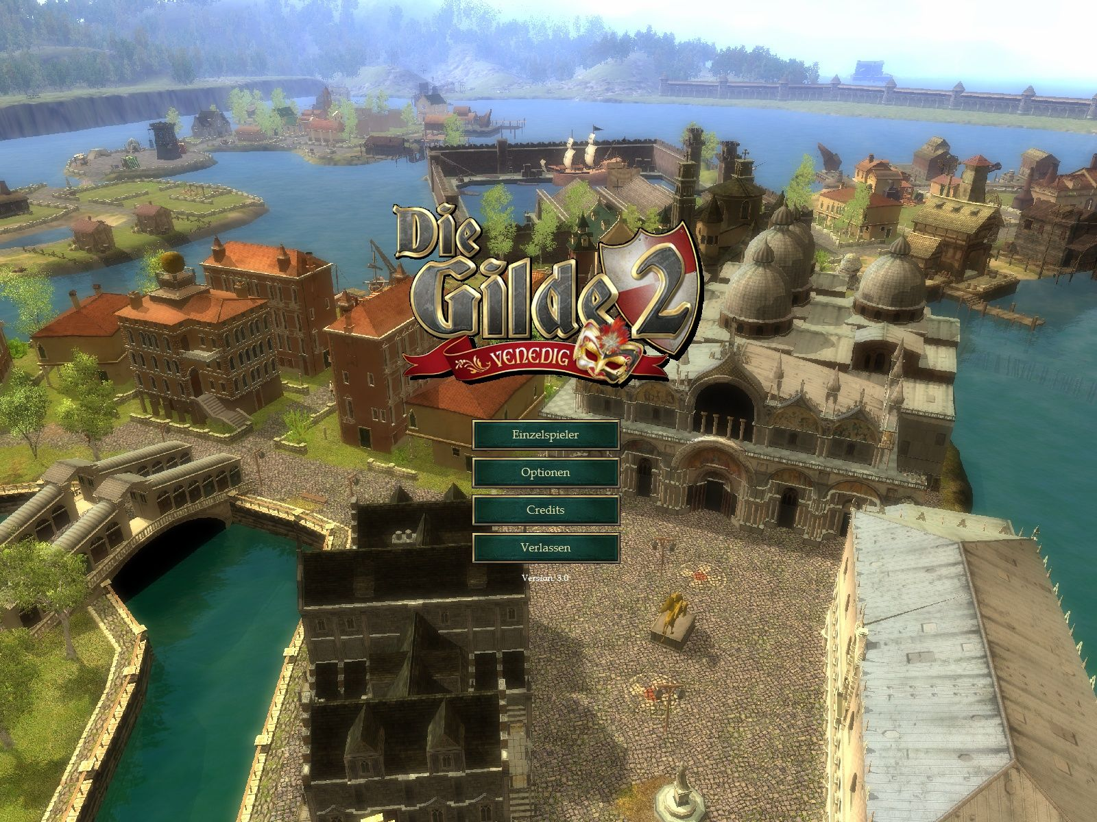 The Guild 2: Venice Windows Main Menu