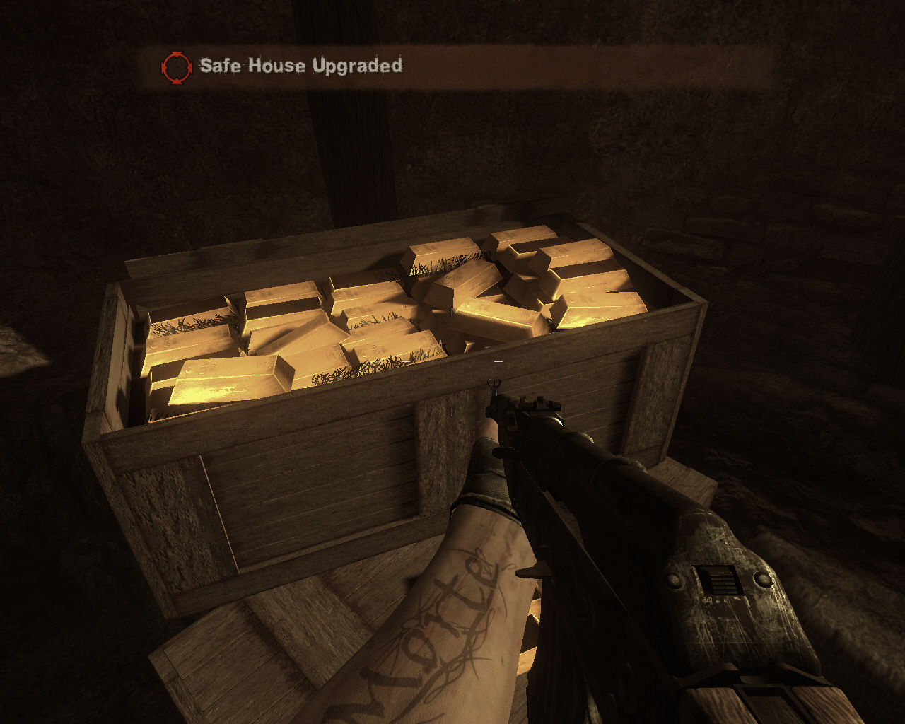Far Cry 2 Windows Found some gold bars.
