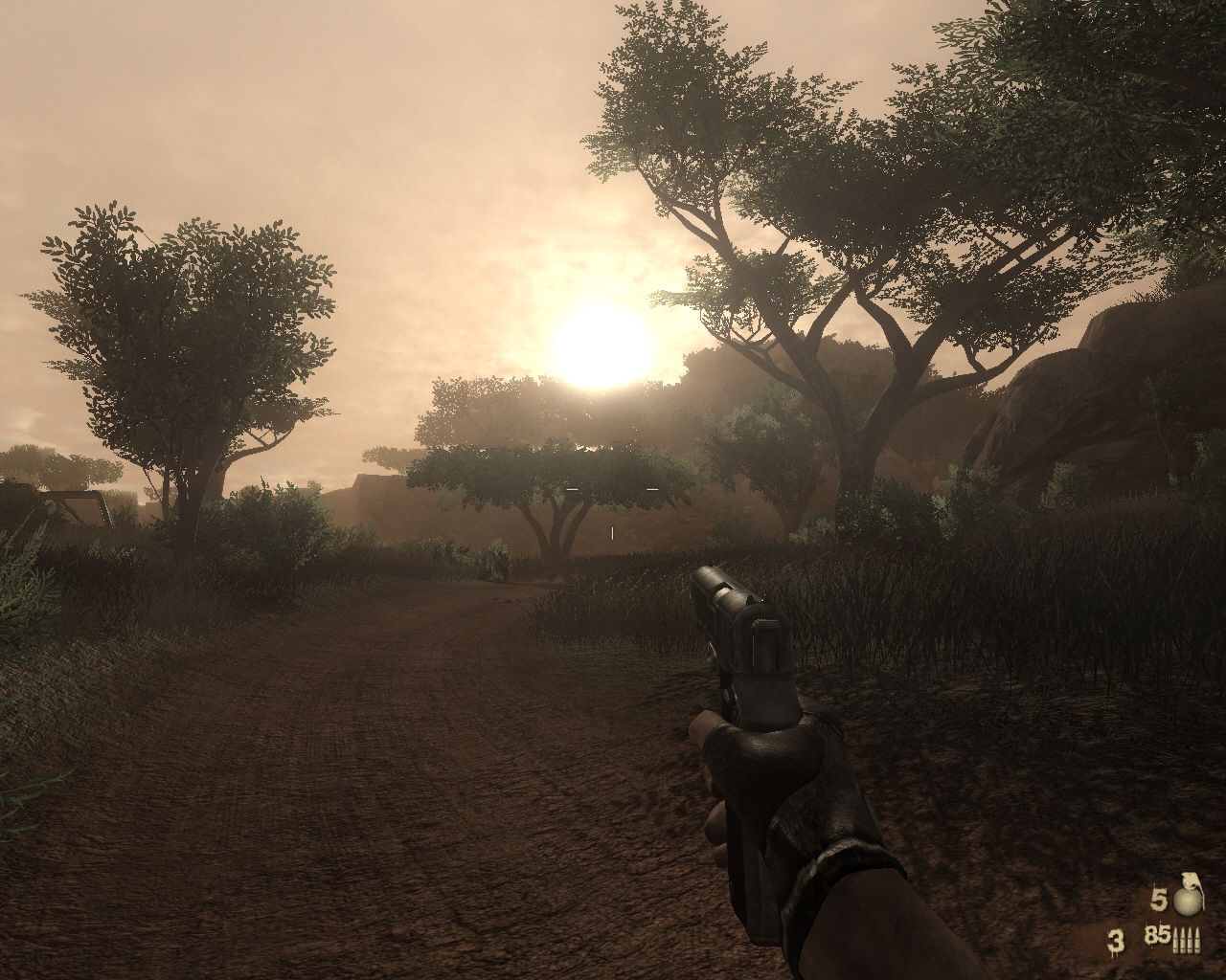 Far Cry 2 Windows Nice sunset in Africa.