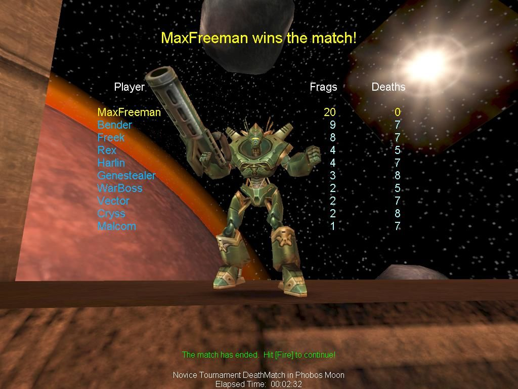 Unreal Tournament Windows Celebrating Victory    :)
