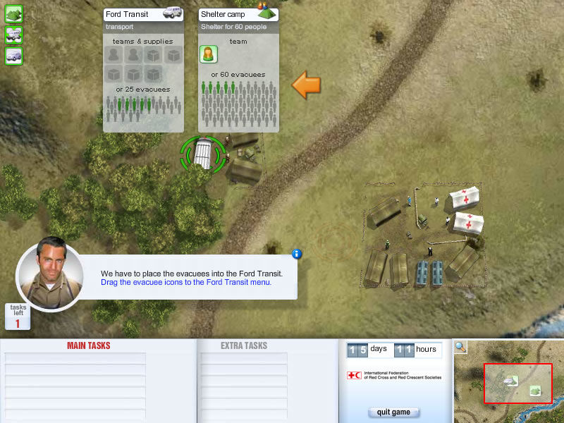 ERU: Emergency Response Unit Browser In the tutorial mission the player is guided by Jack.