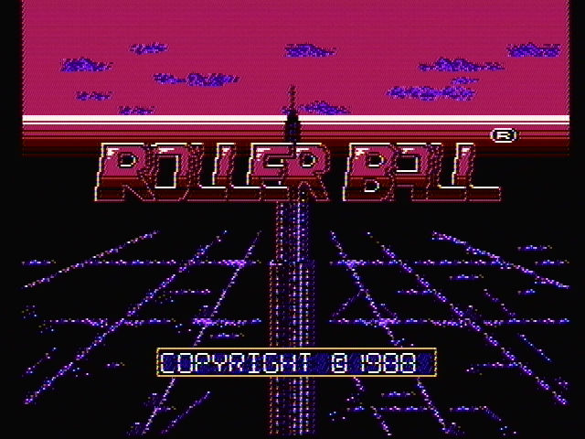 Rollerball NES Title screen