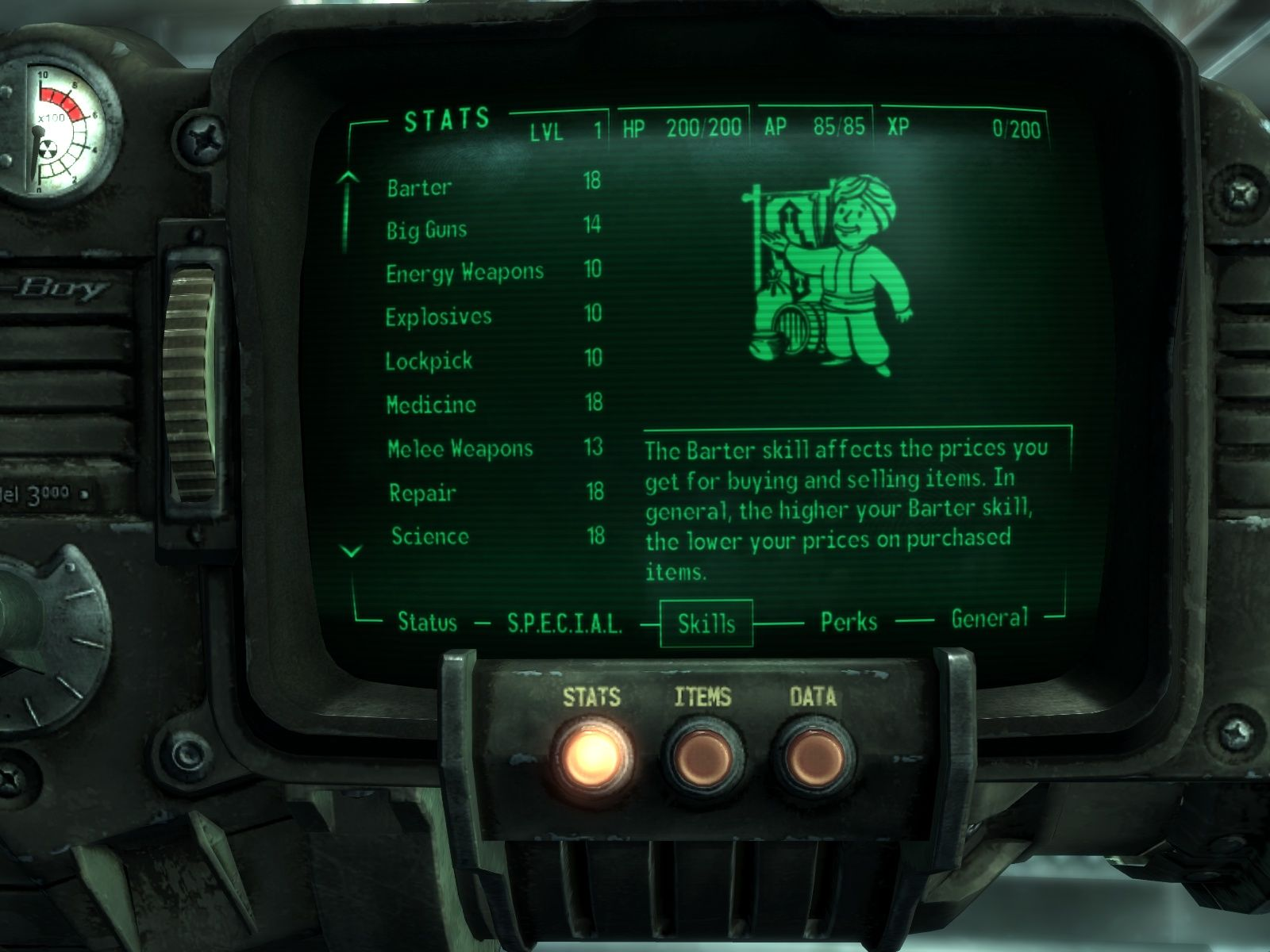 Fallout 3 Windows The Pip-Boy...