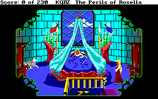 King's Quest IV: The Perils of Rosella Amiga Genesta's bedroom.