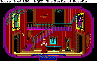 King's Quest IV: The Perils of Rosella Amiga Inside the spooky old house.