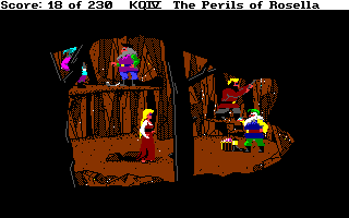 King's Quest IV: The Perils of Rosella Amiga Deep in the dwarves' mine.