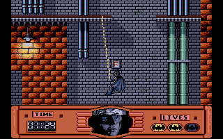 Batman: The Movie DOS Batman swings. The controls are quite difficult to master and the lack of modifying the layout really hinders the game. Otherwise it could be a lot of fun.