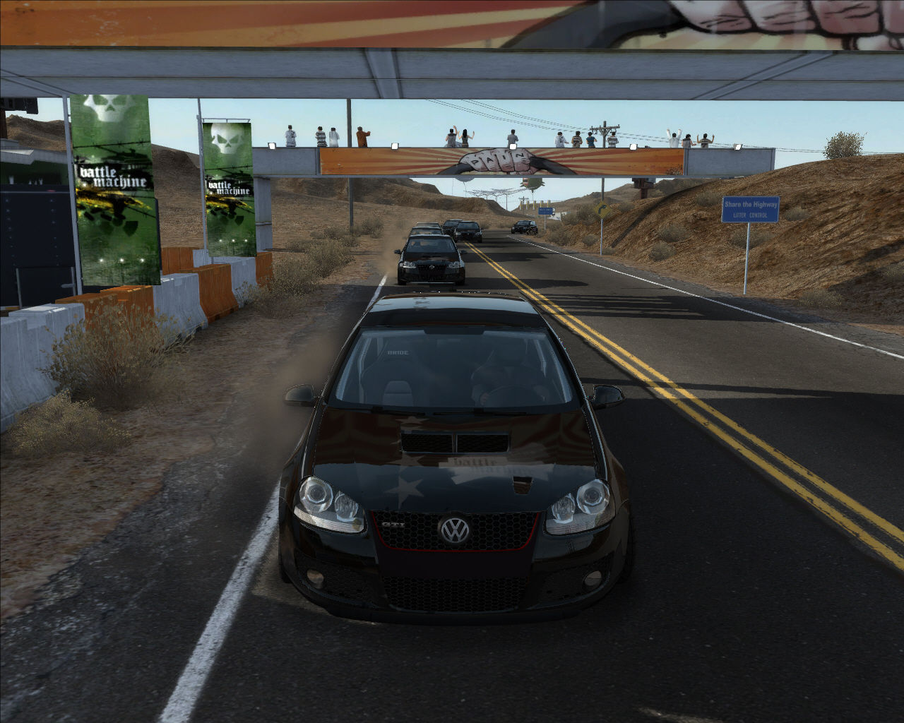 Need for Speed: ProStreet Windows View behind.