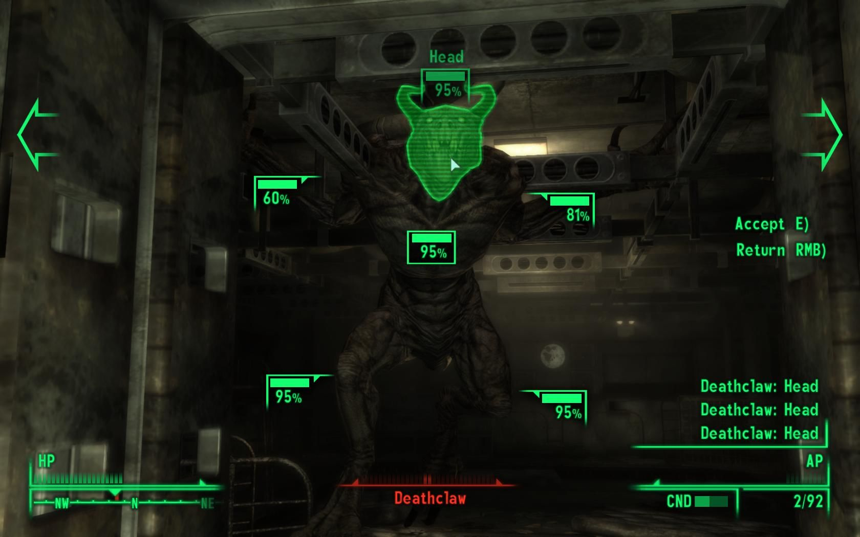 Fallout 3 Windows Deathclaws are extremely dangerous.
