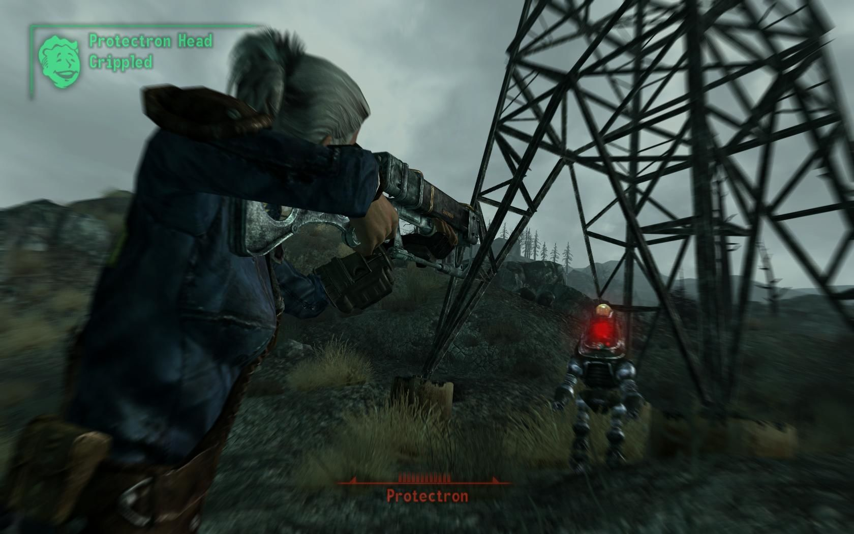 Fallout 3 Windows Destroying robots with their own weapons.