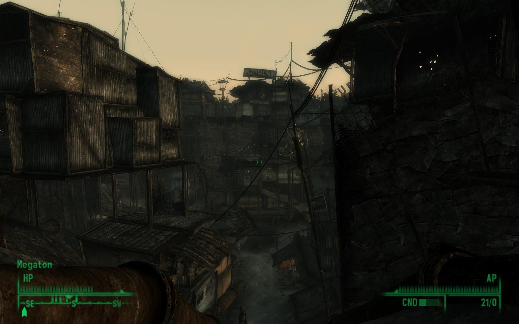 Fallout 3 Windows Megaton, a city built around a nuclear bomb.