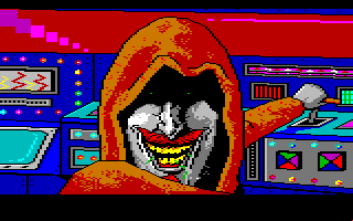 Manhunter 2: San Francisco Amiga The evil villian. He could use a good floss to get that green gunk out of his teeth.