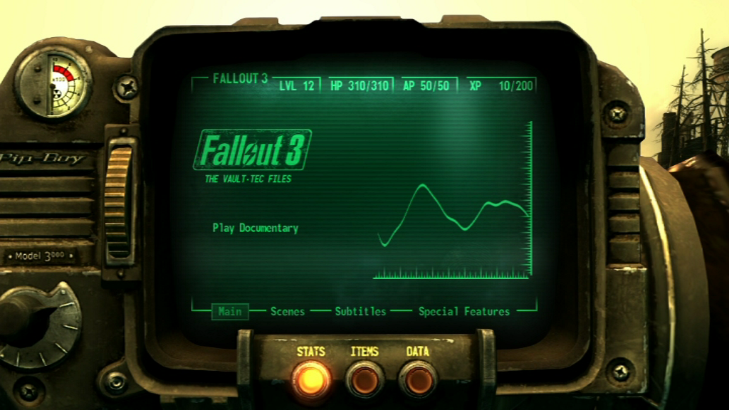Fallout 3 (Collector's Edition) Windows Bonus DVD main menu