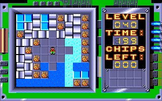 Chip's Challenge Amiga Level 40 - Floorgasborg.