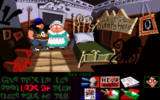 Maniac Mansion: Day of the Tentacle DOS George Washington's room
