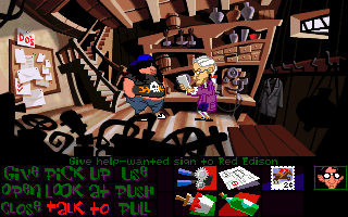 Maniac Mansion: Day of the Tentacle DOS Hoagie meets with Red Edison