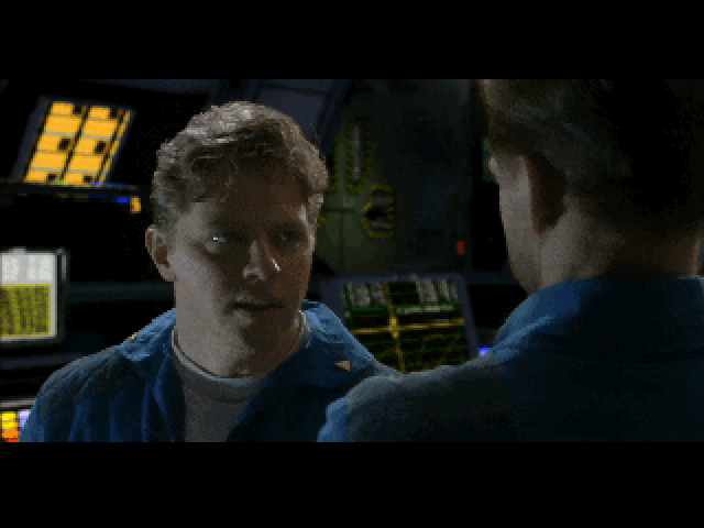 Wing Commander III: Heart of the Tiger DOS Talking with Maniac. (Yes, that's the guy who played Biff in Back to the Future).