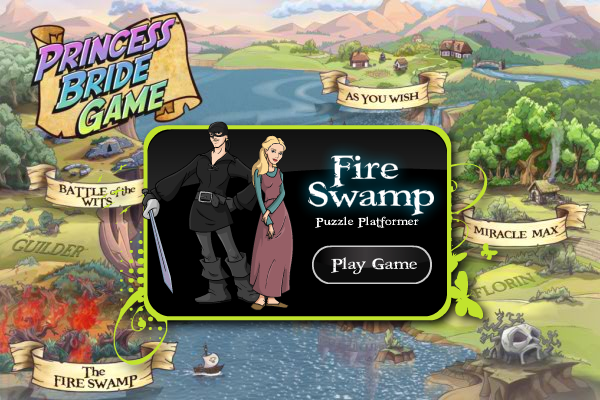 The Princess Bride Game Windows Starting a new mini-game (demo)