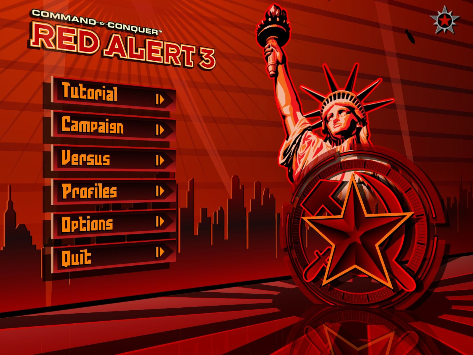 Command & Conquer: Red Alert 3 Windows Main Menu