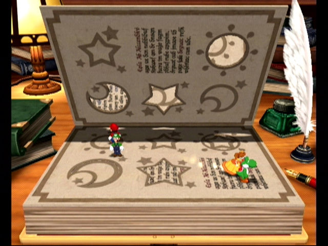 Mario Party 4 GameCube Avoid being squashed by the book!