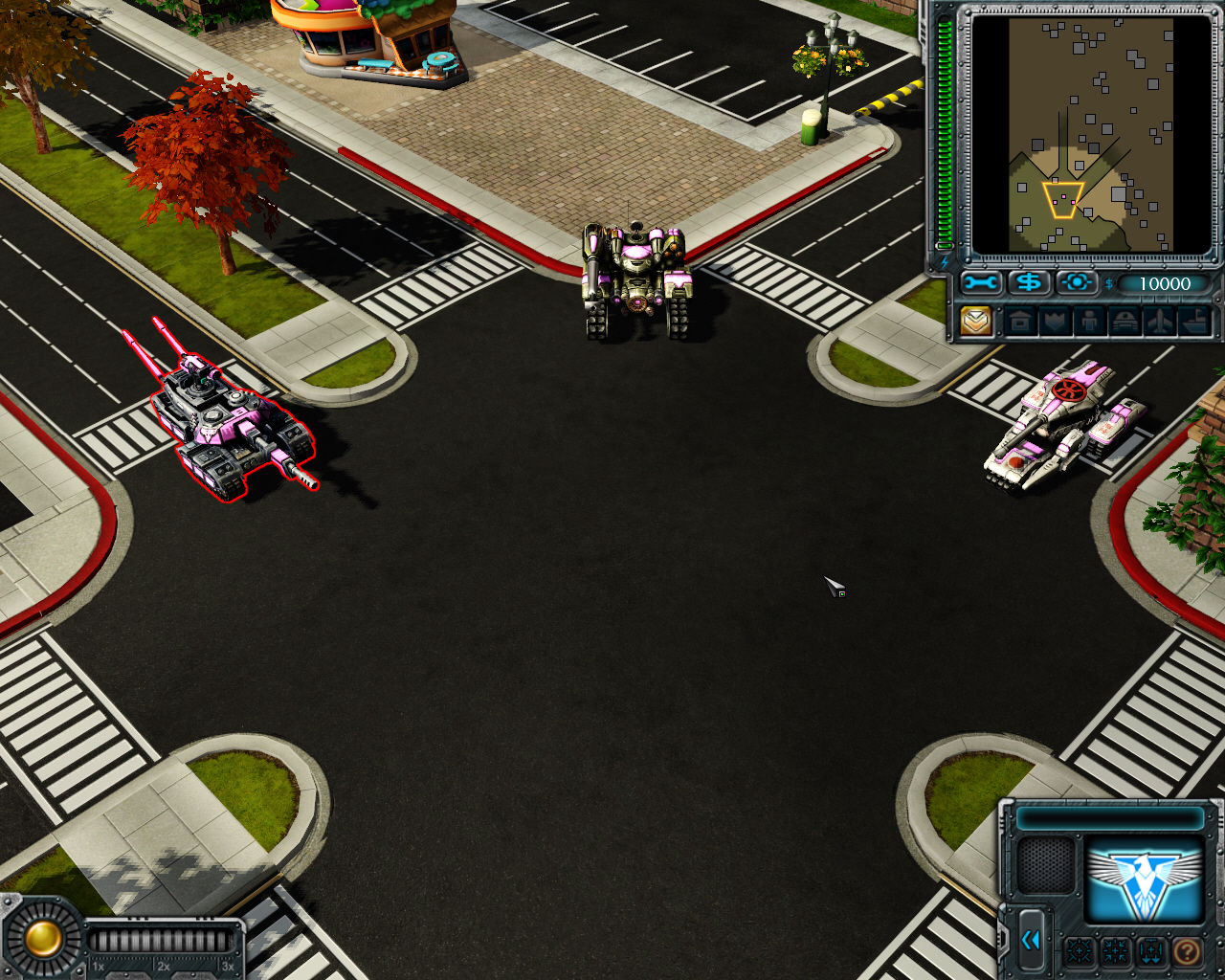 Command & Conquer: Red Alert 3 Windows Training mission begins.