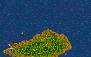 Jungle Strike DOS Level 2 - Picking up some Navy Seals.