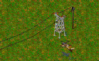 Jungle Strike DOS Level 5 - The enemy's power grid.