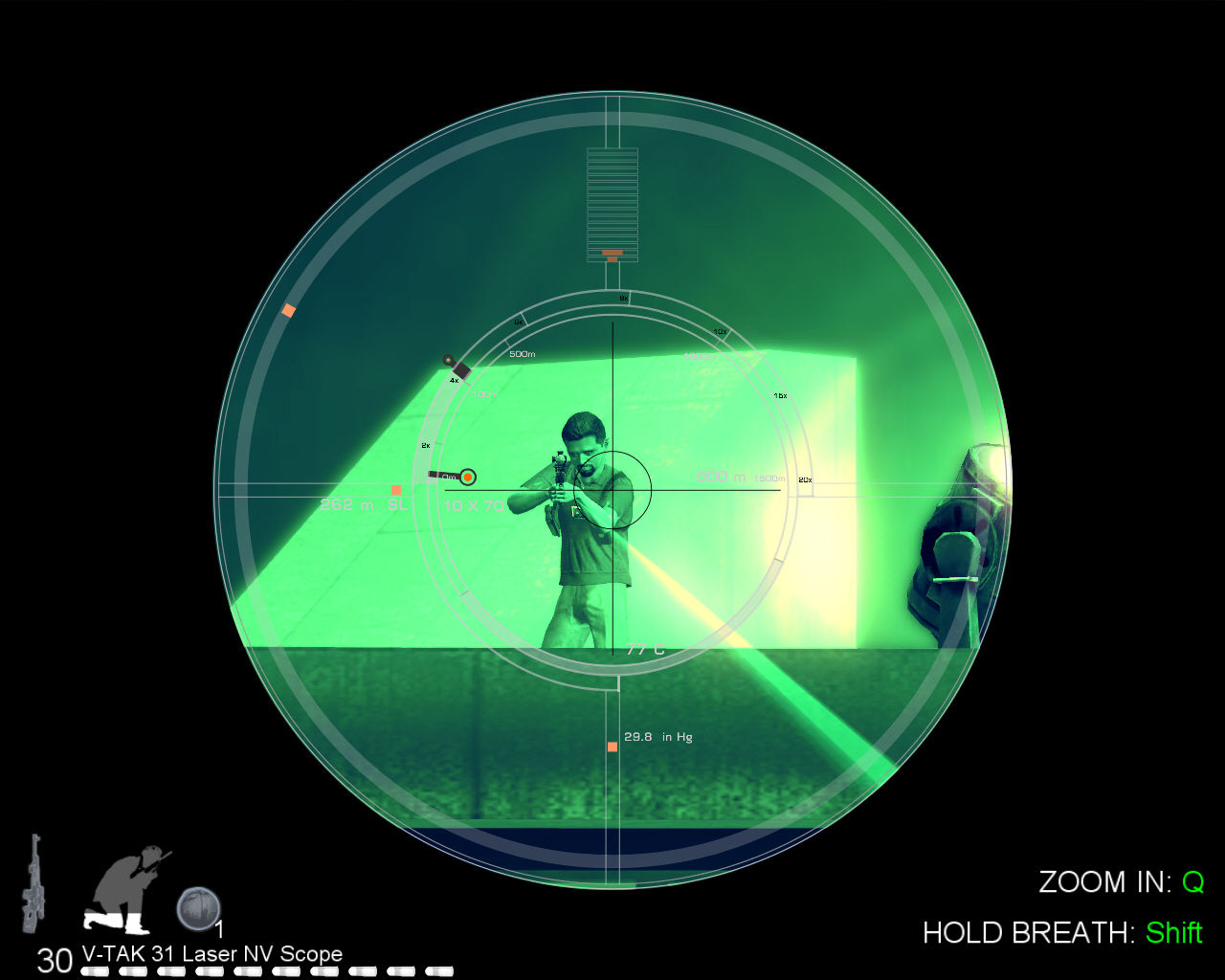 007: Quantum of Solace Windows Using sniper rifle.