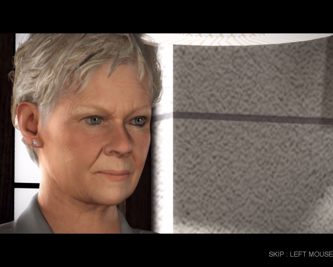 "007: Quantum of Solace Windows Judi Dench as ""M""."