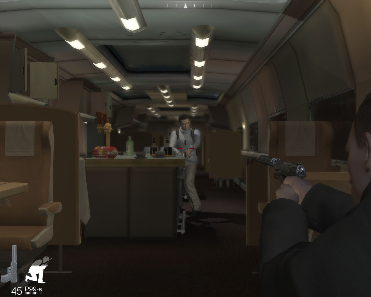 007: Quantum of Solace Windows Shooting inside train.