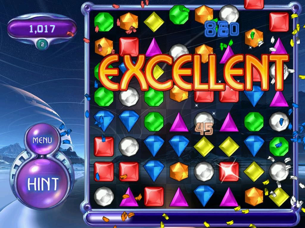 Bejeweled 2: Deluxe Windows The encouragement is great!