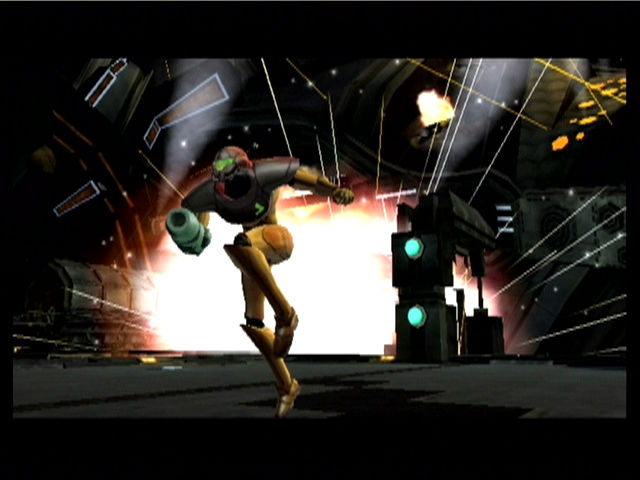 Metroid Prime GameCube Escaping an explosion