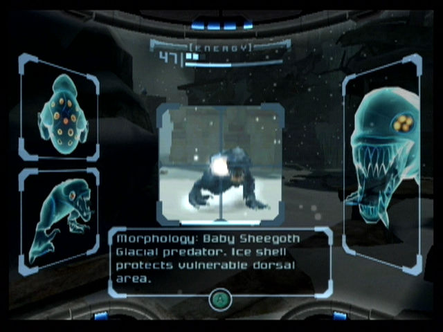 Metroid Prime GameCube Study the creatures of Tallon IV with the scan visor