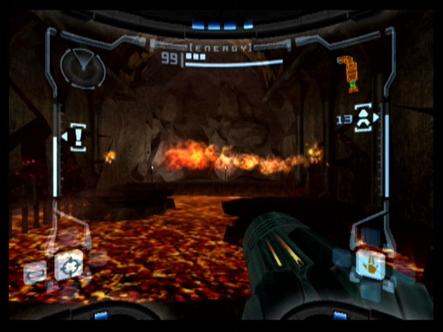 Metroid Prime GameCube The deadly Magmoor Caverns