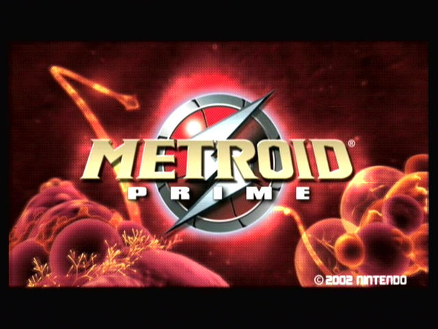 Metroid Prime GameCube Title screen