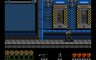 Midnight Resistance Atari ST The armory. Collected keys can be used to get a better weapons
