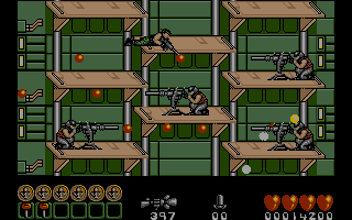 Midnight Resistance Atari ST Lots of heavy guns