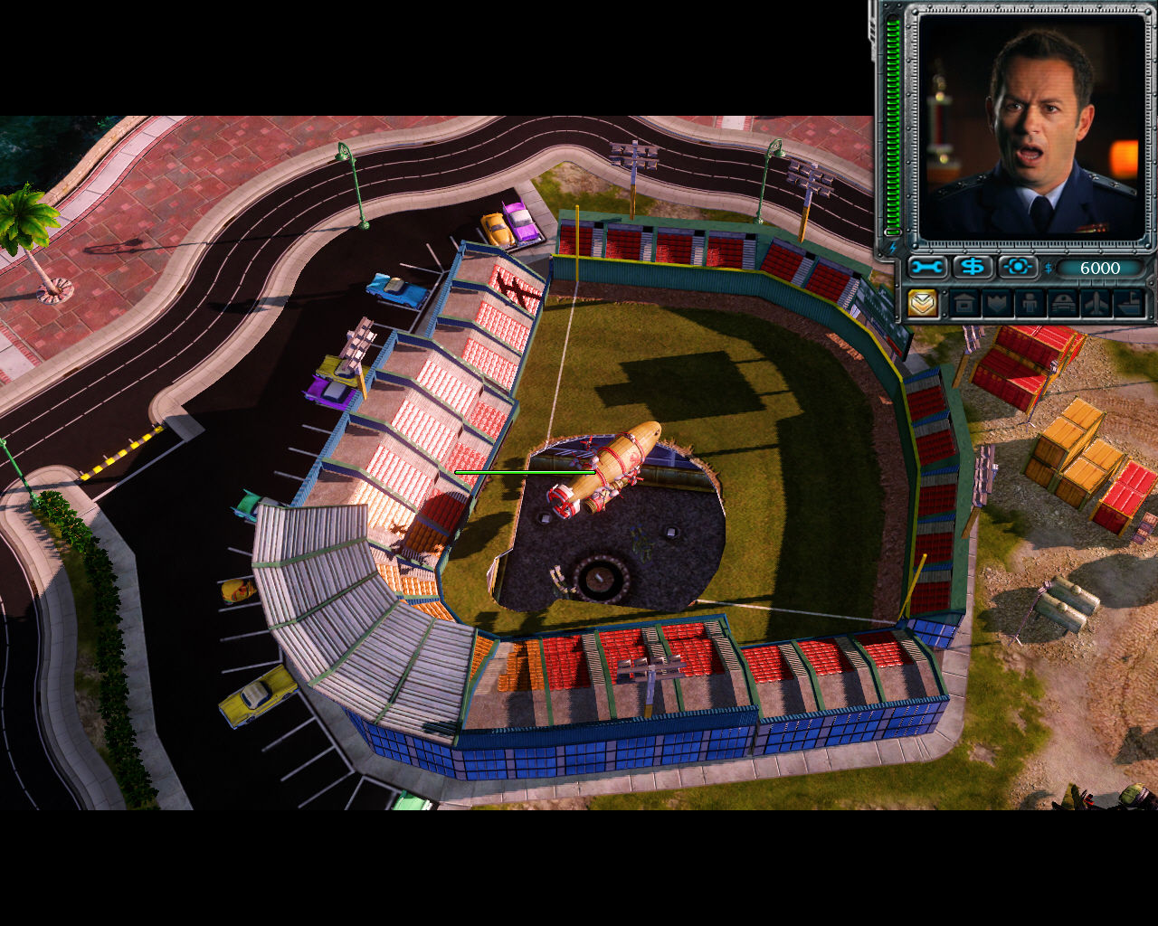 Command & Conquer: Red Alert 3 Windows Surprise from the baseball stadium.