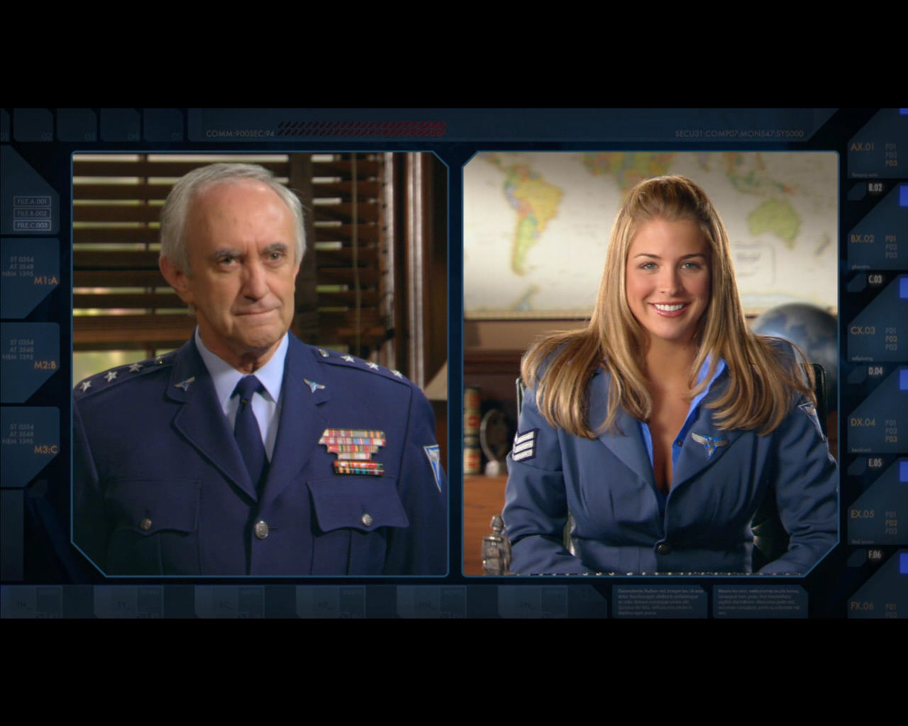 Command & Conquer: Red Alert 3 Windows Jonathan Pryce (as Robert Bingham) and Gemma Atkinson (as Eva).