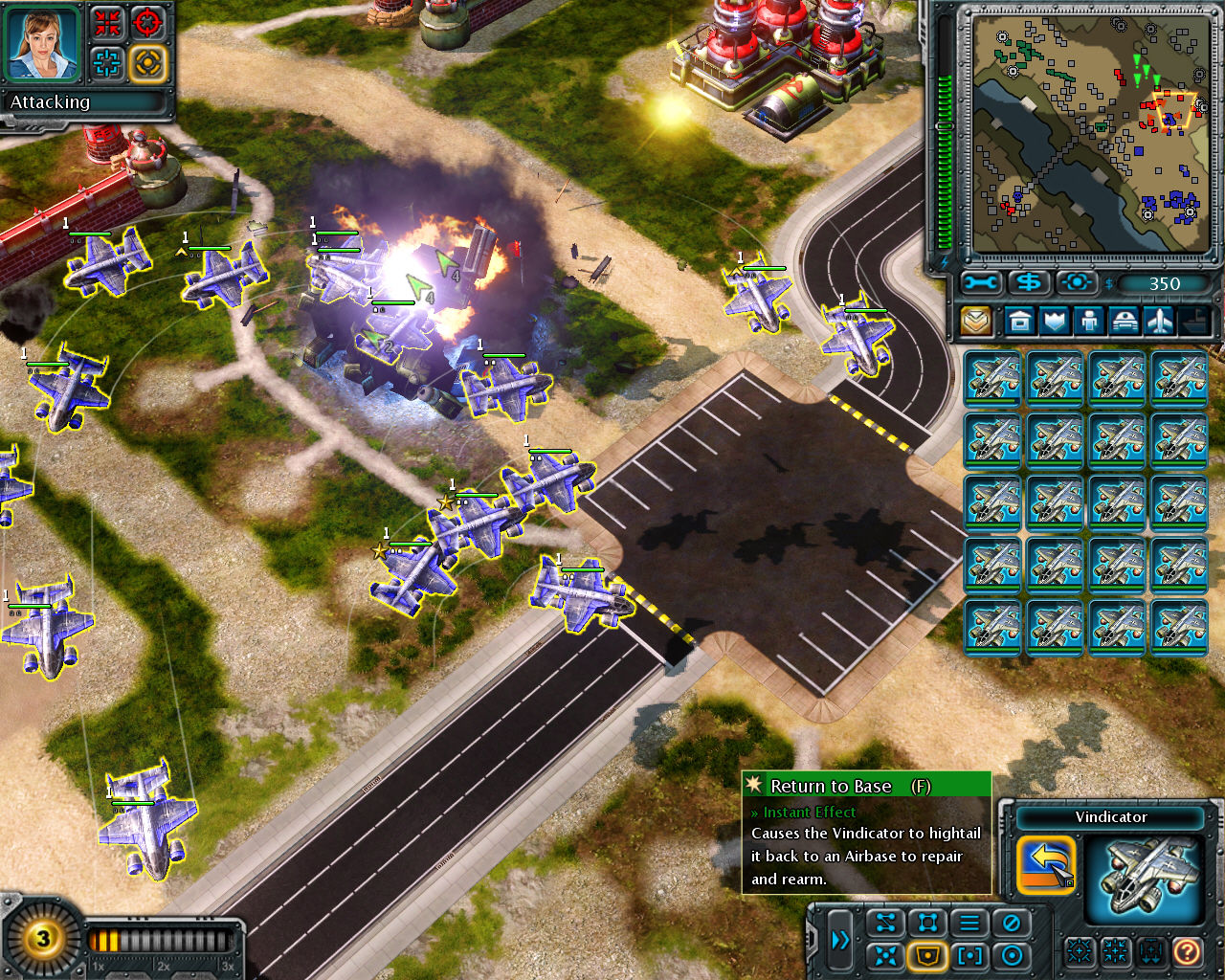 Command & Conquer: Red Alert 3 Windows Allied air attack.