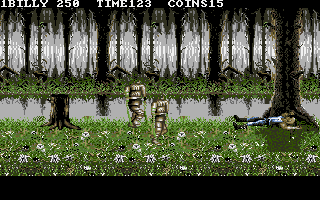 Double Dragon III: The Sacred Stones DOS Are we still in Egypt? These guys turn into tree stumps when they die.