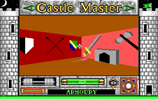 Castle Master DOS None of this weaponary is of any use. (EGA)