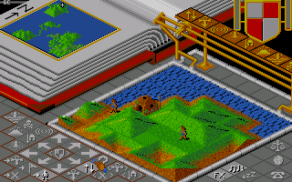 Populous Amiga In game play.