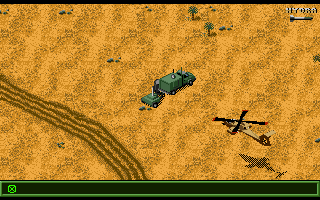 Jungle Strike Amiga Level 3 - An enemy mobile radar.