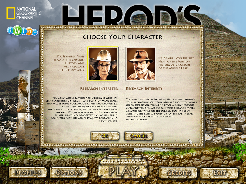 Herod's Lost Tomb Windows Choose your character