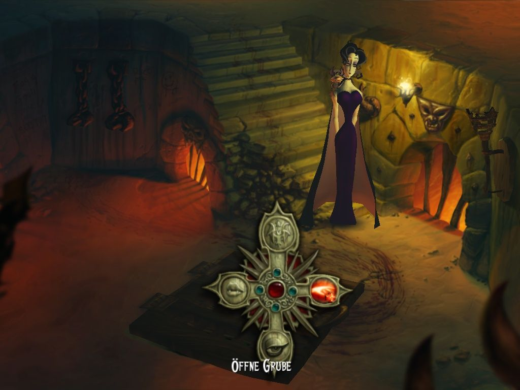 "A Vampyre Story Windows Choosing ""Open the pit"" in the the interaction menu."