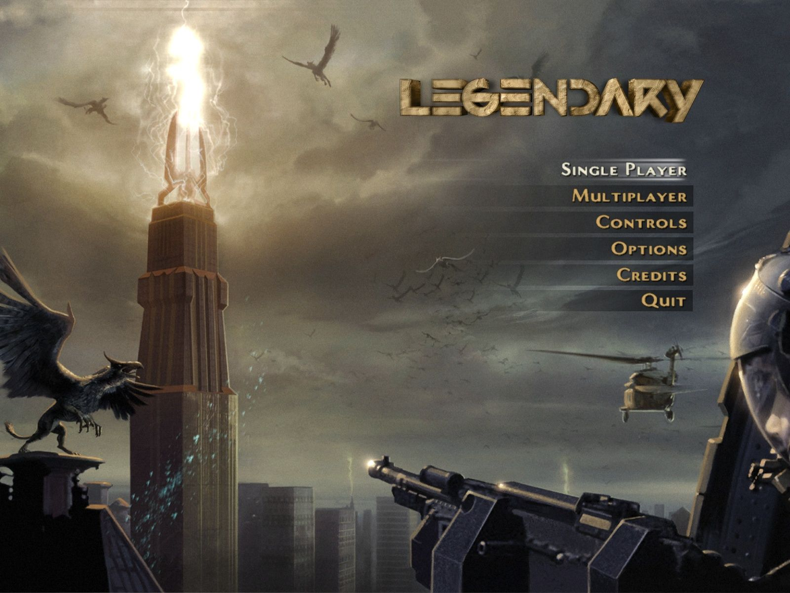 Legendary Windows Main Menu