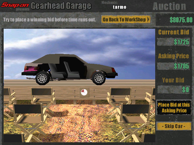 Snap-on presents Gearhead Garage: The Virtual Mechanic Windows Buying a broken car from an auction.