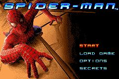 Spider-Man Game Boy Advance Title Screen