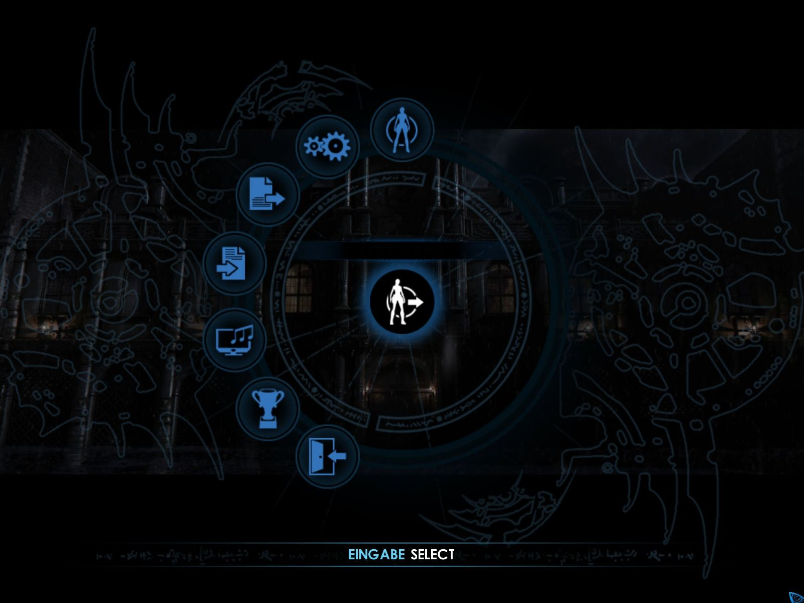 Tomb Raider: Underworld Windows Main menu
